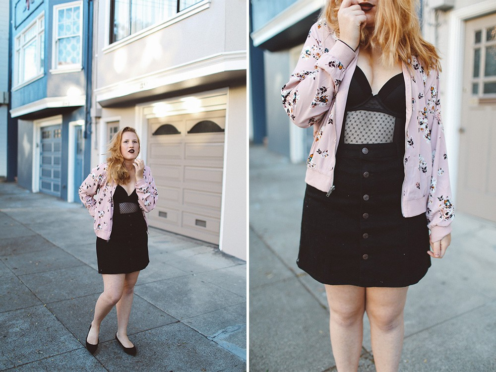 Target button up skirt and jacket