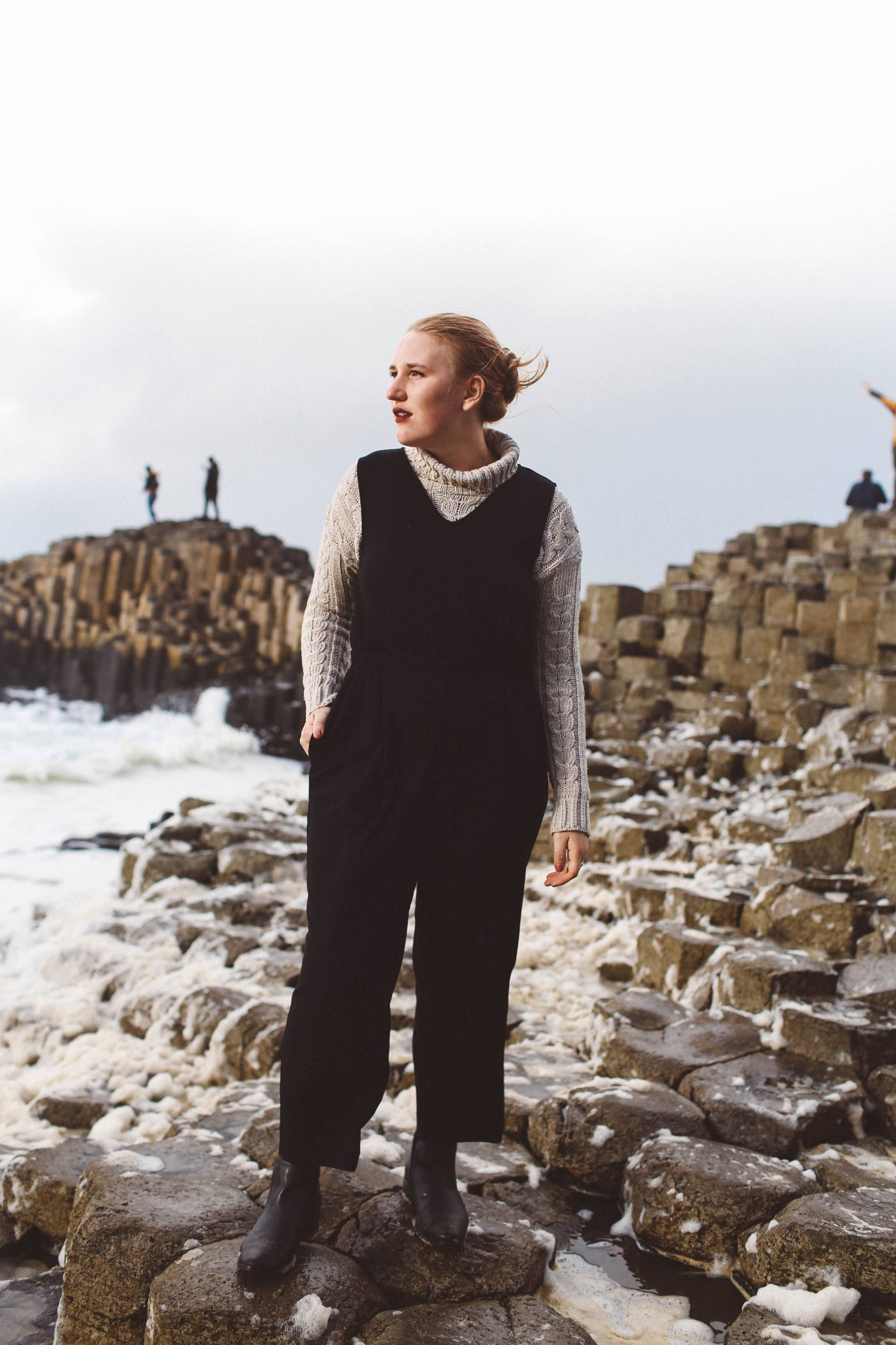 Giant's Causeway hours woman ireland