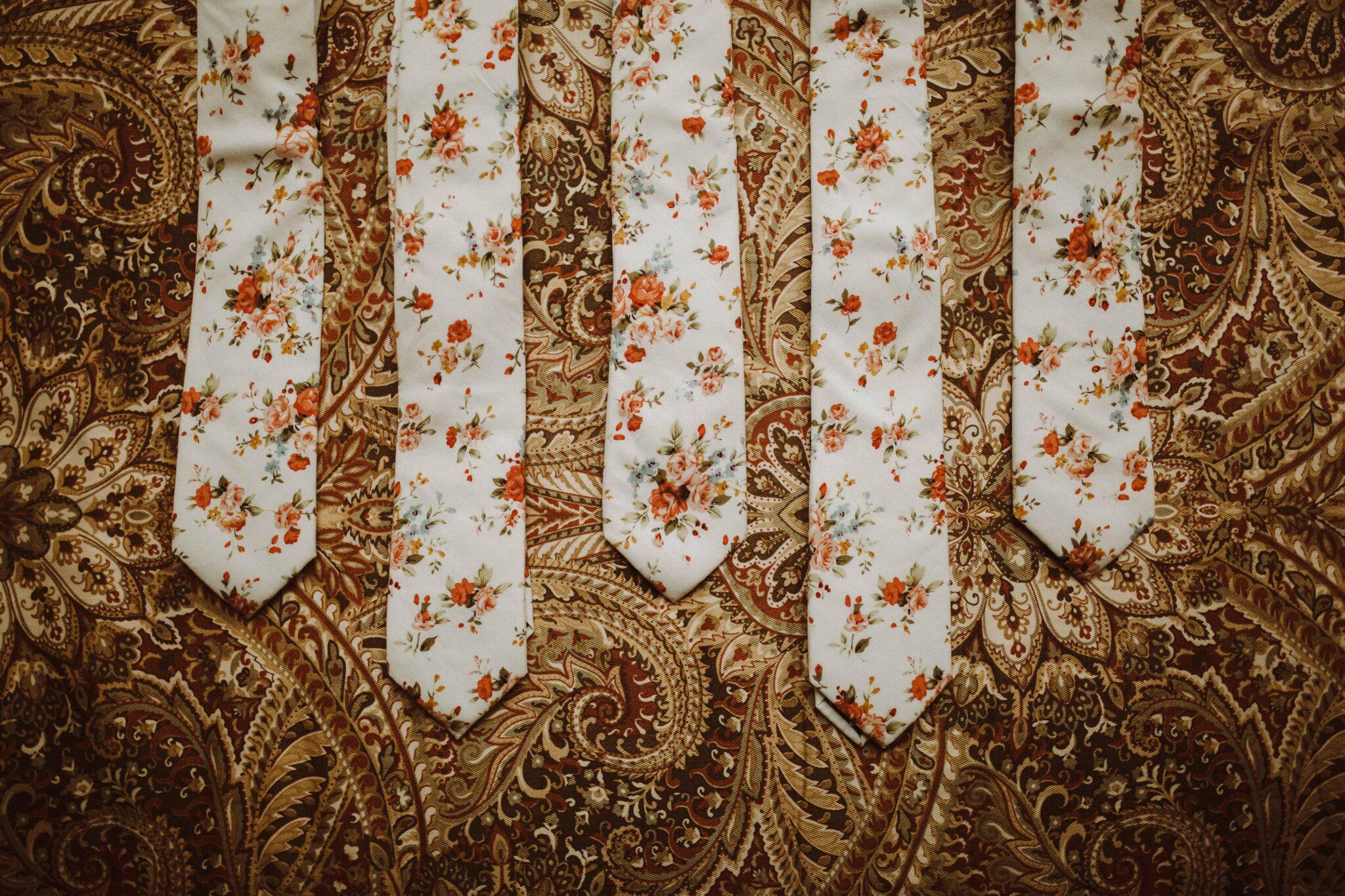 floral ties wedding