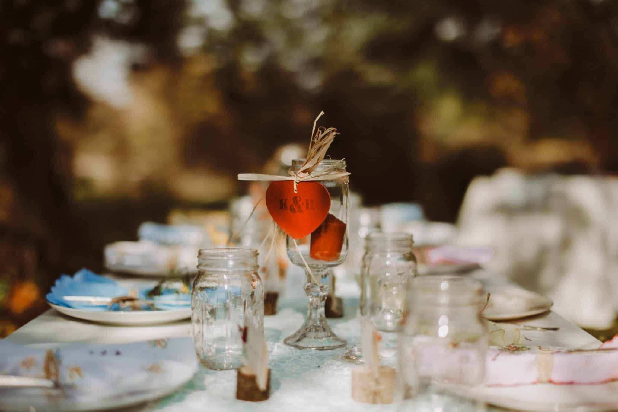 table wedding decor