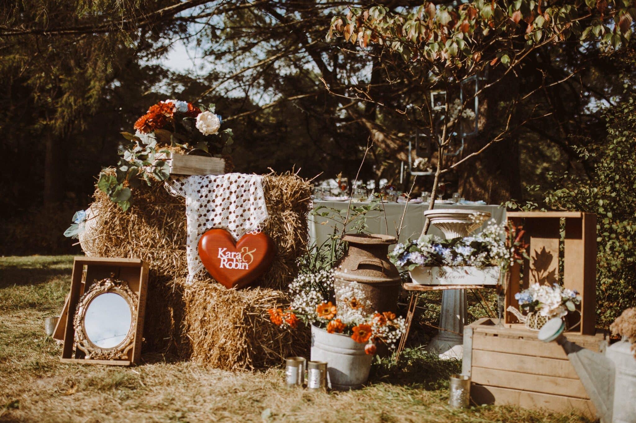 wedding decor boho farm rustic