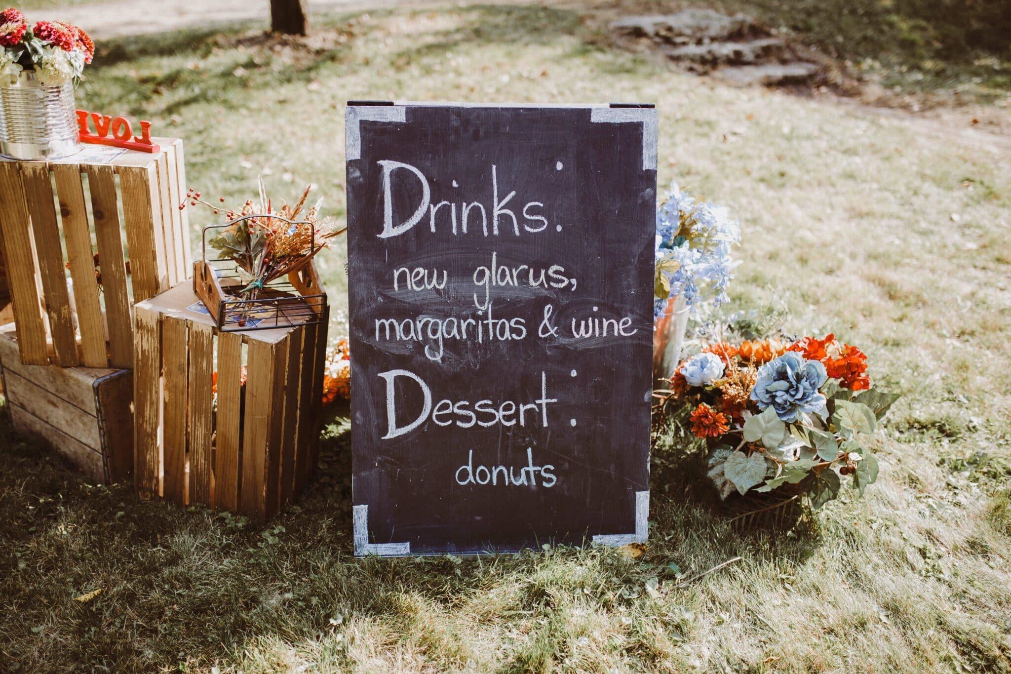 wedding sign boho chic