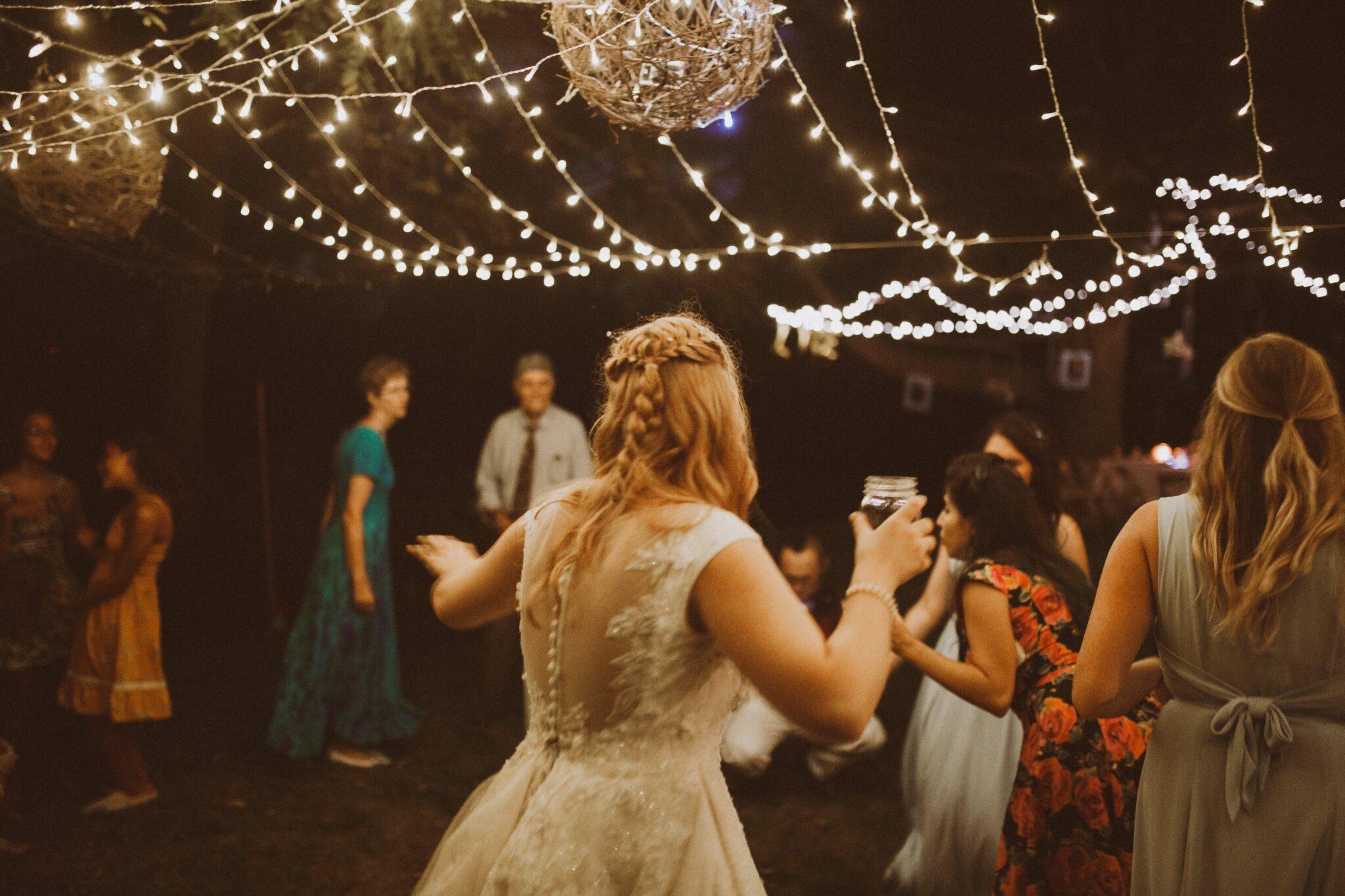 bride dancing wedding beer