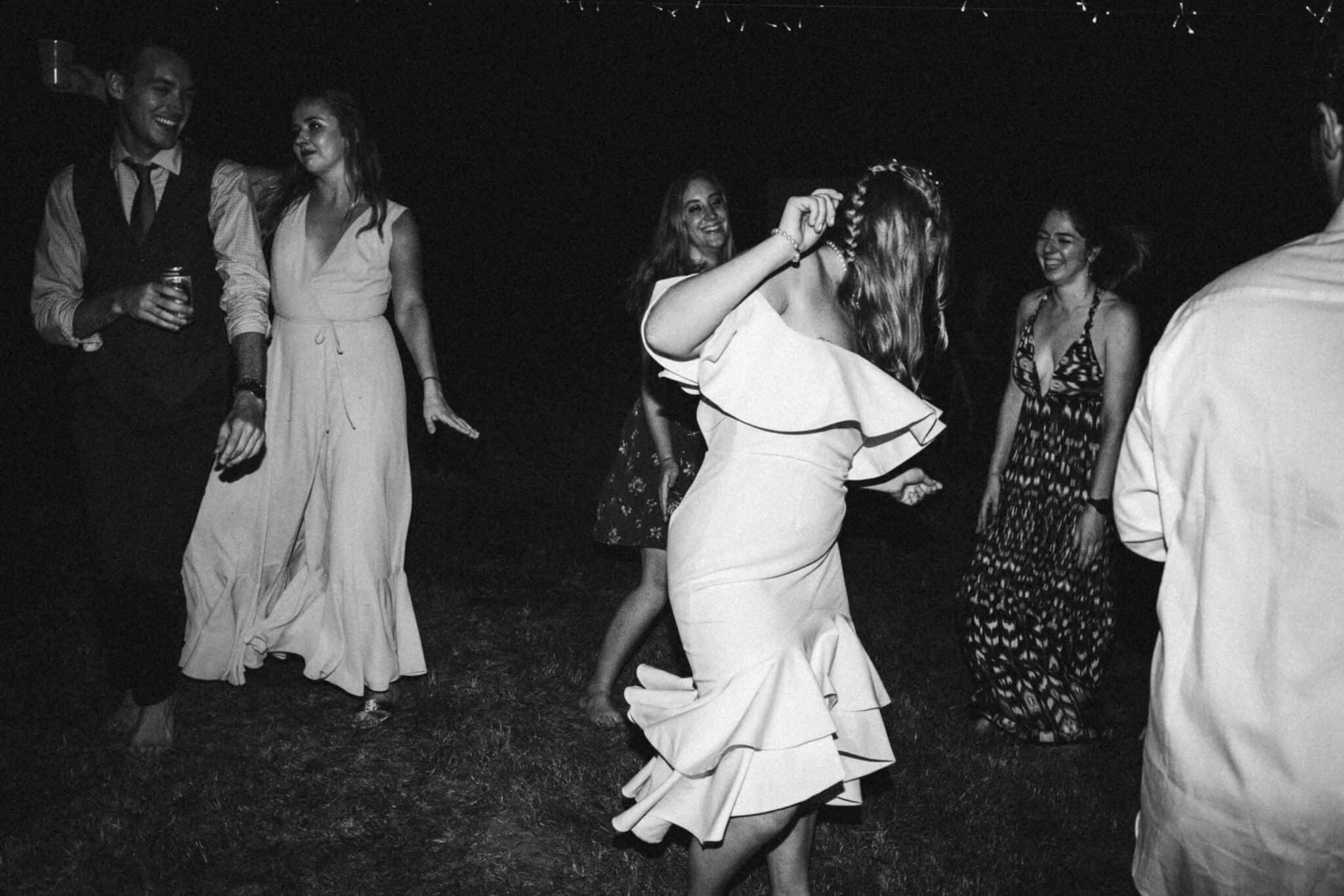 bride dancing wedding dress