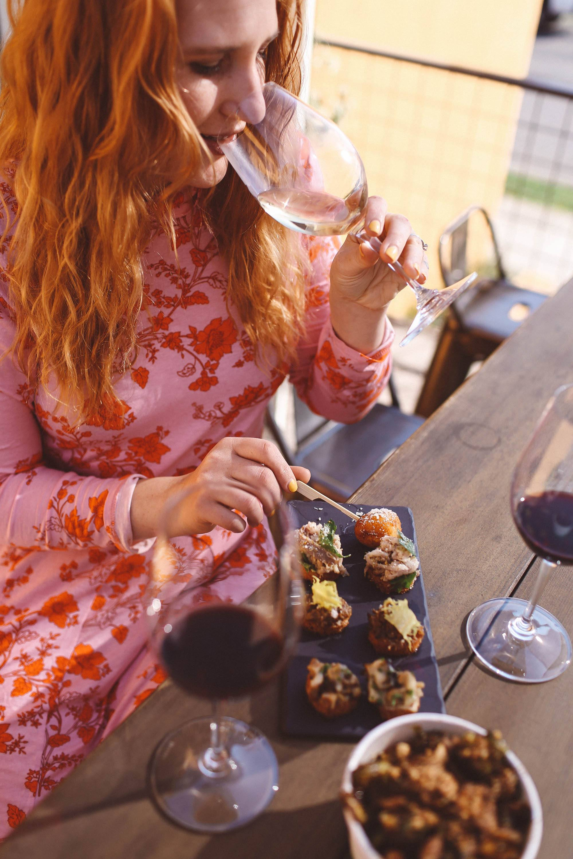cliff family wine food flatlay