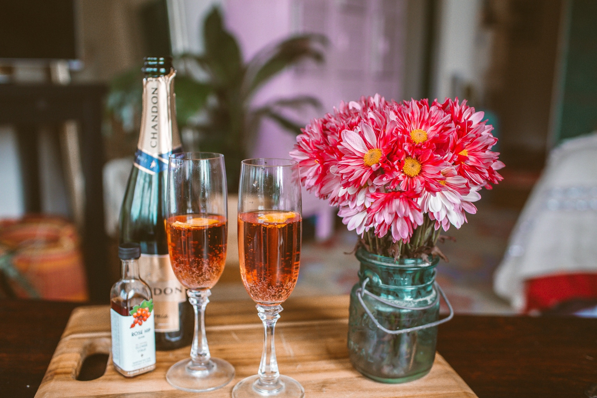 Rose Hibiscus Champagne Cocktail Recipe Whimsy Soul